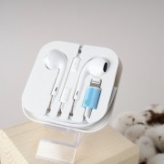 Наушники для iPhone 7 Lightning Connector ios 11 bluetooth (Белый)