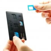 Адаптеры для сим карт Mini Sim, Micro Sim, Nano Sim в пластиковом корпусе с иглой