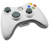 Джойстик для Xbox 360 беспроводной (Белый)