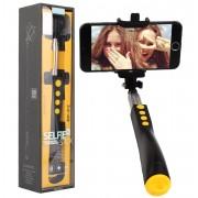 Монопод селфипалка Премиум Remax Selfiestick RP-P2 (Желтая)
