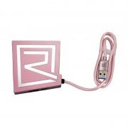 Переходник USB Remax RU-U7 Hub Cardreader (Розовое золото)