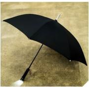 Зонт-трость Zest 1398701 мужской, полуавтомат с фонариком (Черный)