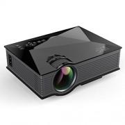 Мультимедийный проектор LED проектор Unic UC46 UC68 с Wi-Fi (Черный)