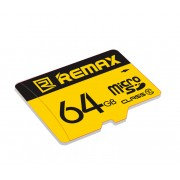 Карта памяти Remax Micro SD Card 64Gb C10 (Желтый)