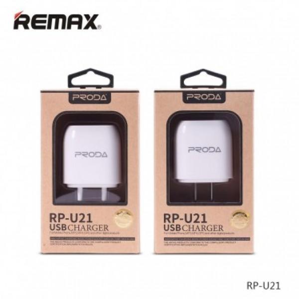 Зарядное устройство Proda Charger RP-U21 c Micro USB кабелем