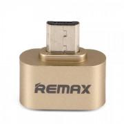 Адаптер Remax OTG Micro-USB RA-OTG (Золото)