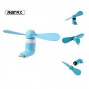 Мини-вентилятор Remax Refon Mini Fan F10 для iPhone (Голубой)