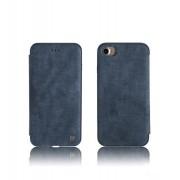 Зимний кожаный чехол Remax для iPhone7 (Голубой)