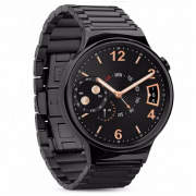 Ремешок для часов Huawei Watch Grand series 3 Hoco Pionters Metal Watchband металлический (Черный)