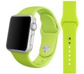 Силиконовый ремешок Sport для Apple Watch 42 44 мм (Фисташковый)