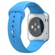 Силиконовый ремешок Sport для Apple Watch 38 мм (Голубой)