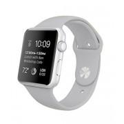 Силиконовый ремешок Sport для Apple Watch 42 44 мм гибкий, для пробежек, плотно прилегающий (Серый)