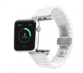 Ремешок для часов Apple Watch браслет керамический (Белый 42)