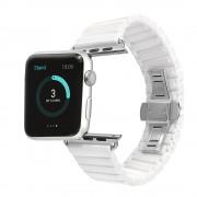 Ремешок для часов Apple Watch браслет керамический (Белый 38)