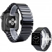 Ремешок для часов Apple Watch браслет керамический, удобный, презентабельный (Черный 42)