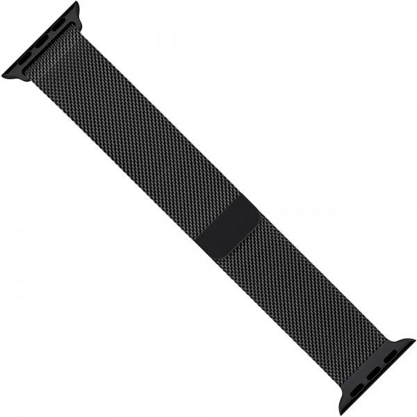 Ремешок Milanese Loop для Apple Watch 38 40 мм, ремешок на магнитной застежке, гибкий, нервущийся (Черный)