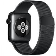 Ремешок Milanese Loop для Apple Watch 42 44 мм (Черный)