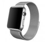 Ремешок Milanese Loop для Apple Watch 42 44 мм (Серебристый)