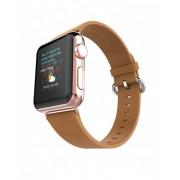 Ремешок для часов Apple Watch натуральная кожа фактурная (Коричневый 38)