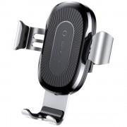 Автомобильный держатель для телефона Baseus 10W Fast QI Wireless Car Mount wxyl-0s (Серебро)