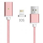 Кабель Metal Magnetic Data Cable для iPhone (Розовое золото)