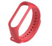 Ремешок силиконовый для Xiaomi Mi Band 3/Mi Band 4 (Красный)