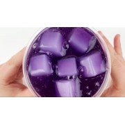 Слайм лизун с кубиками в бутылке (Фиолетовый)