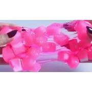 Слайм лизун с кубиками в бутылке (Розовый)