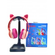 Беспроводные Bluetooth наушники Cat Ear Led031 со светящимися кошачьими ушками