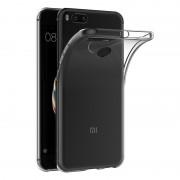 Чехол силиконовый мягкий для Xiaomi Mi Note 3 (Прозрачный)