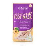 Маска-носки для ног AsiaKiss, отшелушивающая, размер 35 - 40 АК224, 1 пара