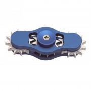 Игрушка-антистресс Spinner Спиннер крутилка алюминиевый шестеренка (Синий)
