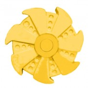 Игрушка-антистресс Spinner Спиннер крутилка Rose Turbine пластик (Желтый)