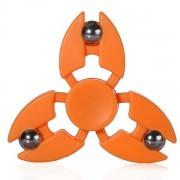 Игрушка-антистресс Spinner Спиннер крутилка с тремя стальными шариками (Оранжевый)