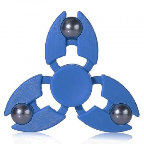 Игрушка-антистресс Spinner Спиннер крутилка с тремя стальными шариками (Синий)