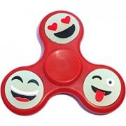 Игрушка-антистресс Spinner Спиннер крутилка смайл (Красный)