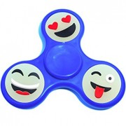 Игрушка-антистресс Spinner Спиннер крутилка смайл (Синий)