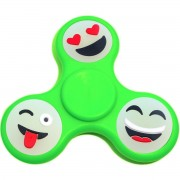Игрушка-антистресс Spinner Спиннер крутилка смайл (Зеленый)
