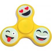 Игрушка-антистресс Spinner Спиннер крутилка смайл (Желтый)