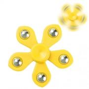 Игрушка-антистресс Spinner Спиннер крутилка цветок пять лучей со стальными шариками (Желтый)