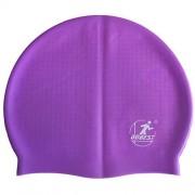 Шапочка для плавания силиконовая массажная XA10 (фиолетовая)