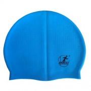 Шапочка для плавания силиконовая массажная XA20 (голубая)