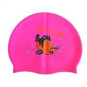 Шапочка для плавания силиконовая с рисунком RH-С10 (розовая)