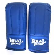 Перчатки тренировочные REALSPORT L, синий