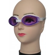 Очки для плавания Dobest HJ-53, белый/фиолетовый