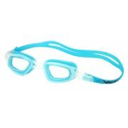 Очки для плавания Dobest HJ-13, белый/голубой