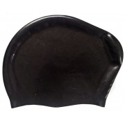 Шапочка для плавания силиконовая Dobest для длинных волос KW20 (черный)