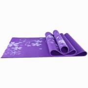 Коврик для йоги и фитнеса YL-Sports 173*61*0,4см BB8303 с принтом, фиолетовый