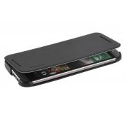 Чехол книжка с пластиковым основанием для HTC One 2 M8 (Черный)