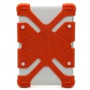 Универсальный силиконовый чехол для планшета с диагональю 7-8 дюймов (Оранжевый)